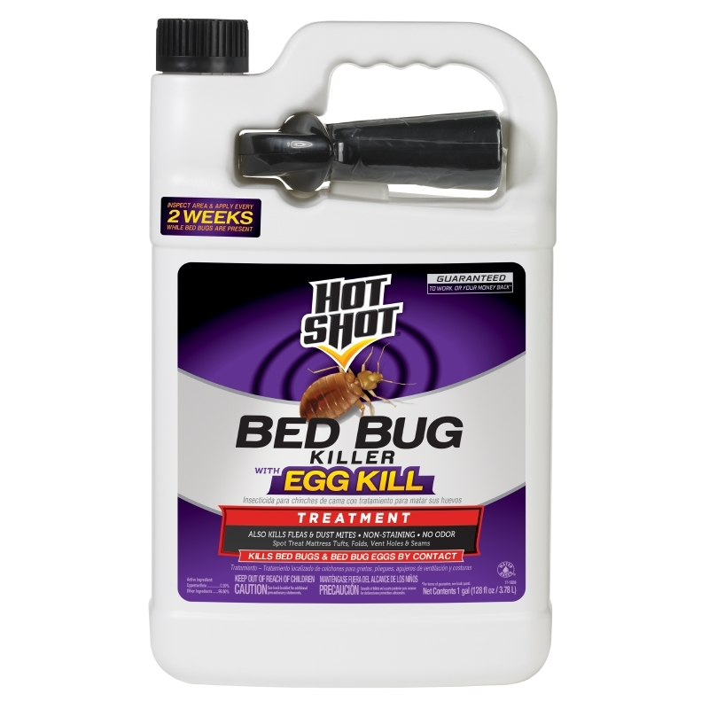 Hot Shot Bed Bug Killer With Egg Kill 1 Gallon, Ready-To-Use, Treatment For Bed Bugs