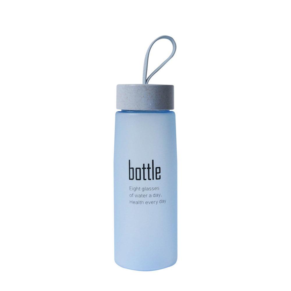 Water Bottle with straw Plastic Sport Scrub Leak Proof Drinking My Bottle