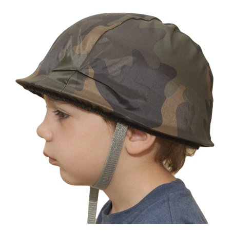 child plastic camo camoflauge army helmet hat military soldier costume - Military Costume Hats