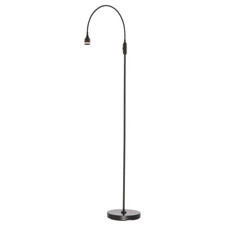 "45"" x 56"" Prospect LED Floor Lamp (Includes Energy Efficient Light Bulb) Black - Adesso"