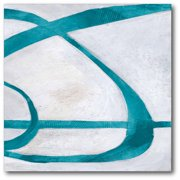 Abstract Turquoise Gallery Wrapped Canvas Wall Art