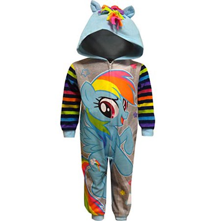 AME - AME Sleepwear Girls  My Little Pony Rainbow Dash Hooded Sleeper (6) -  Walmart.com 0c7526716