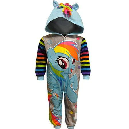 AME Sleepwear Girls' My Little Pony Rainbow Dash Hooded Sleeper (4)](My Little Pony Jacket)