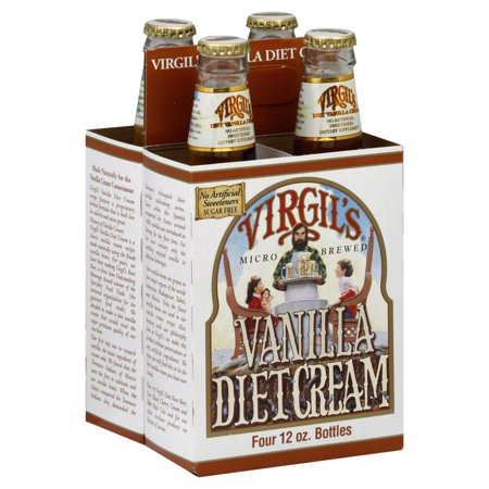 Virgils Diet Vanilla Cream Soda  12 Ounce Bottles  4 Count