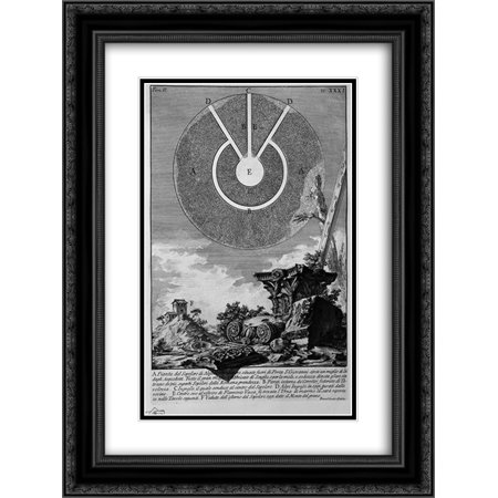 Giovanni Battista Piranesi 2x Matted 18x24 Black Ornate Framed Art Print 'The Roman antiquities, t. 2, Plate XXXI. Fragment of stucco gouged by the time of Nicchioni is one of the interior'