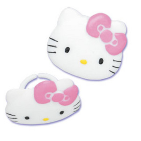 Deco Cupcake Hello Kitty : Hello Kitty Cupcake Rings Party of 24 Cupcake Decoration ...