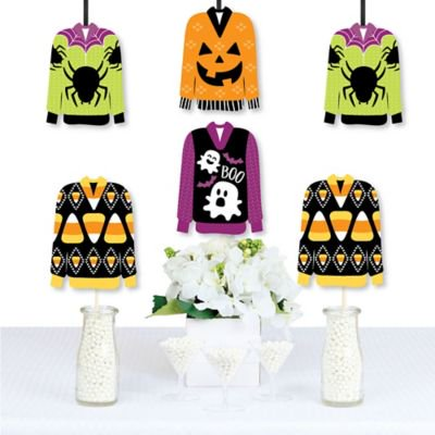 Diy Costume Ideas For Halloween Party (Halloween Ugly Sweater - Decorations Diy Halloween Party Essentials - Set of)