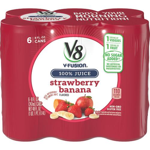 V8® Strawberry Banana, 8 oz., 6 pack
