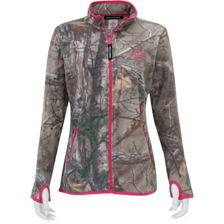 Mossy Oak Women's Full Zip Fleece Jacket, Mossy Oak Patterns