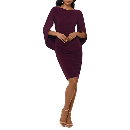 Cape-Sleeve Sheath Dress