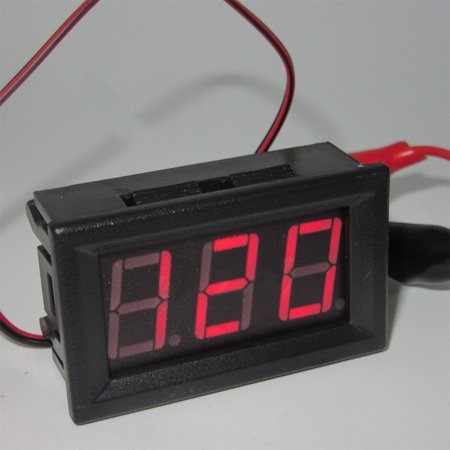 AC 220V 2-wire Voltage Meter Head LED Digital Voltmeter with Reverse Polarity Protection