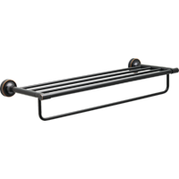 """Better Homes & Gardens Holbrook 24"""" Towel Rack With Item Storage, Oil Rubbed Bronze"""