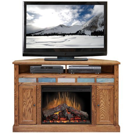 Legends Furniture Oak Creek 56 TV Stand With Fireplace