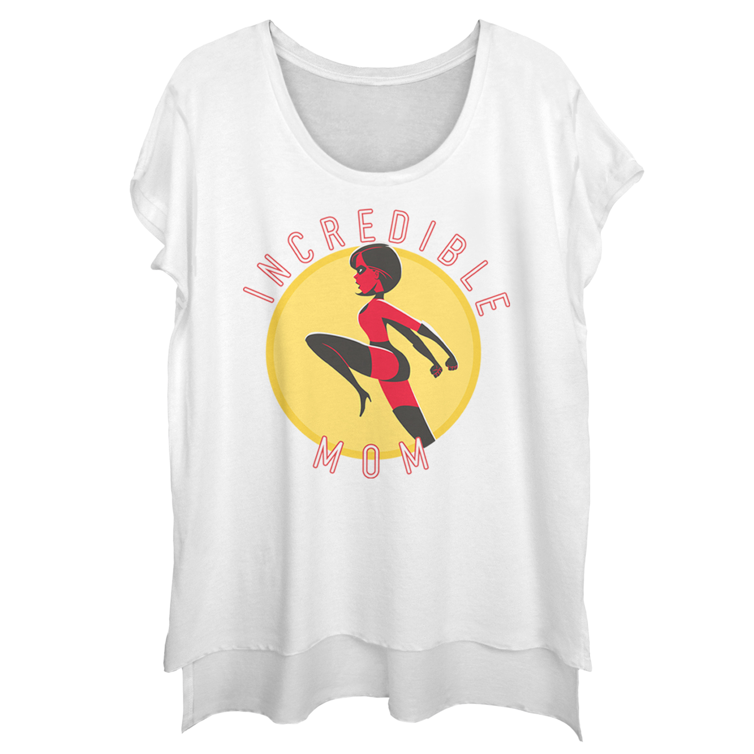 The Incredibles 2 Juniors' Incredible Mom Circle Scoop Neck T-Shirt