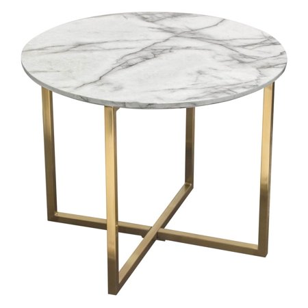 End Table in White and Gray
