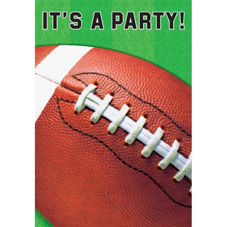 Football Folded Invitation (6 Pack) - Party Supplies