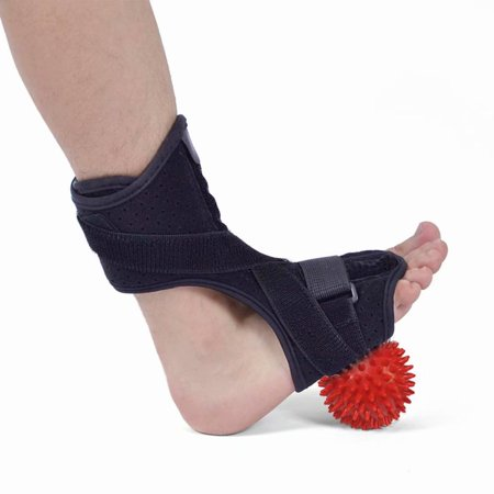 Plantar Fasciitis Night Splint, Ankle Orthotics Drop Foot Brace with Massage Ball, Foot Night Splint for Plantar Fasciitis, Tendonitis, Achilles, Heel Spur Relief, Fits Left/Right