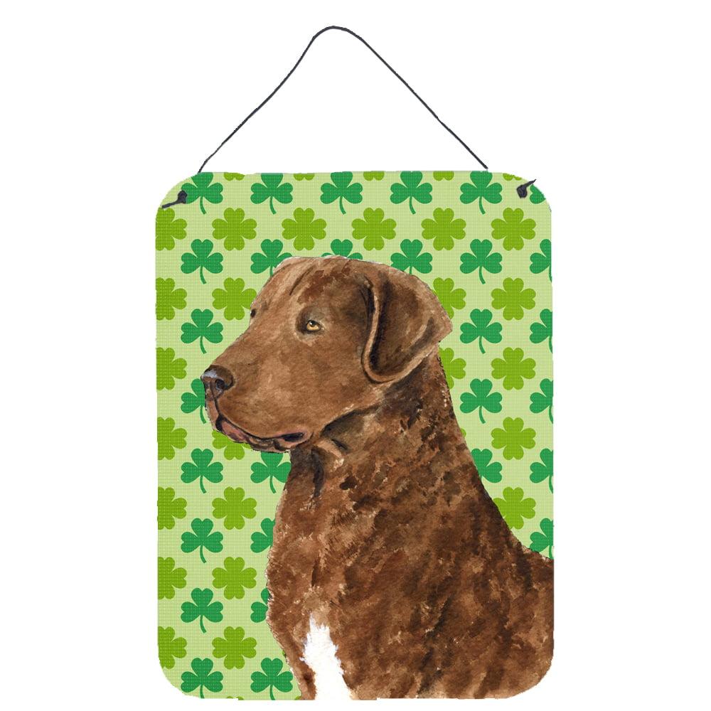 Patricks Day Shamrock Wall Door Hanging Prints Carolines Treasures Wheaten Terrier Soft Coated St Multicolor 16 x 12