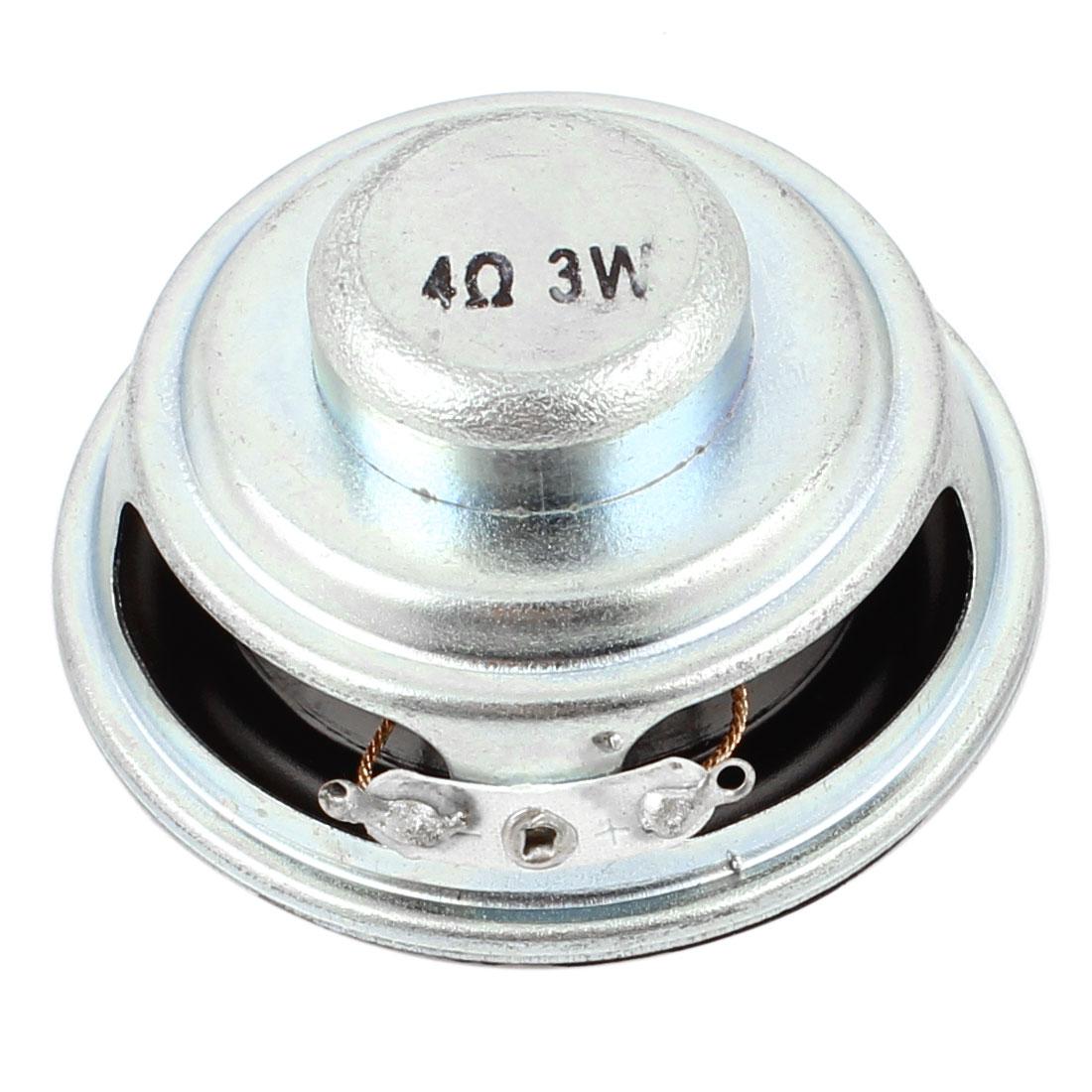 MultimeDiamètre 3W 3 Watt 4 Ohm 5cm Aluminium Diamètre Aimant Interne Speaker - image 2 de 2