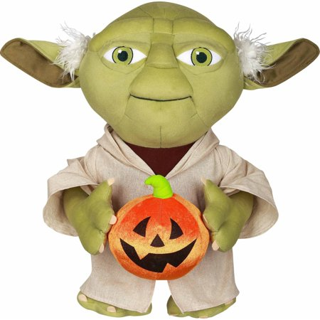 Starwars Pumpkin Stencil (Halloween Greeter-Yoda Holding Pumpkin Star Wars 19.5