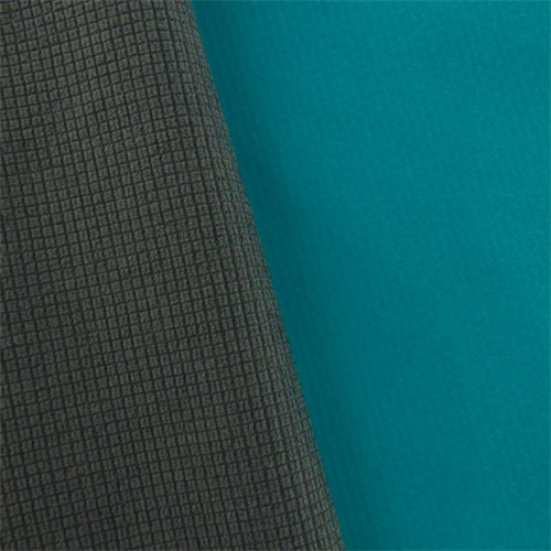 Turquoise/Dark Gray Soft Shell Grid Fleece, Fabric By the Yard
