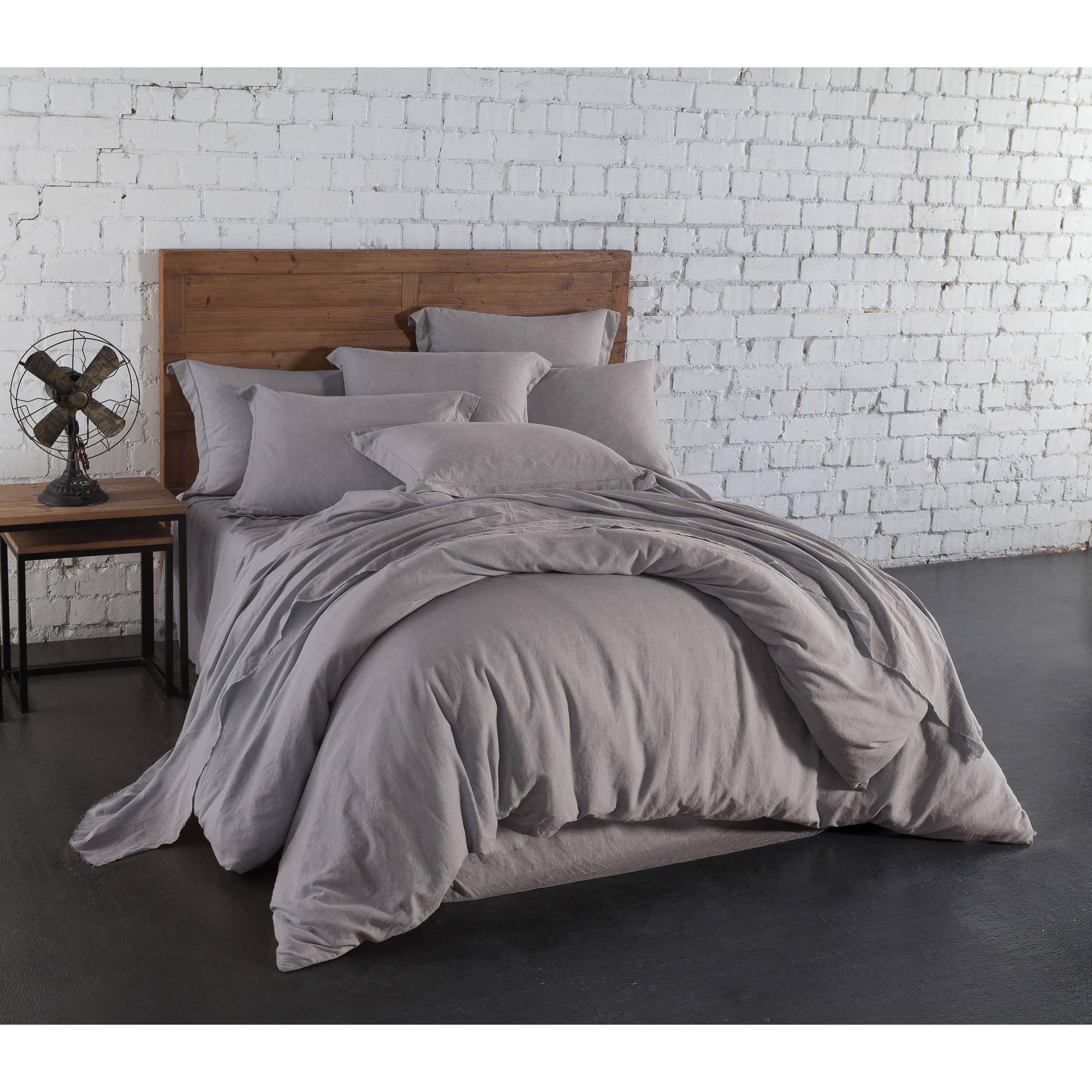 Washed Linen Cotton Blend Sheet Set