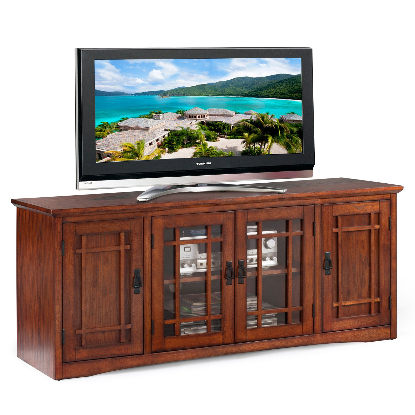 "Leick Home Mission 60"" TV Stand for TV's up to 60"""