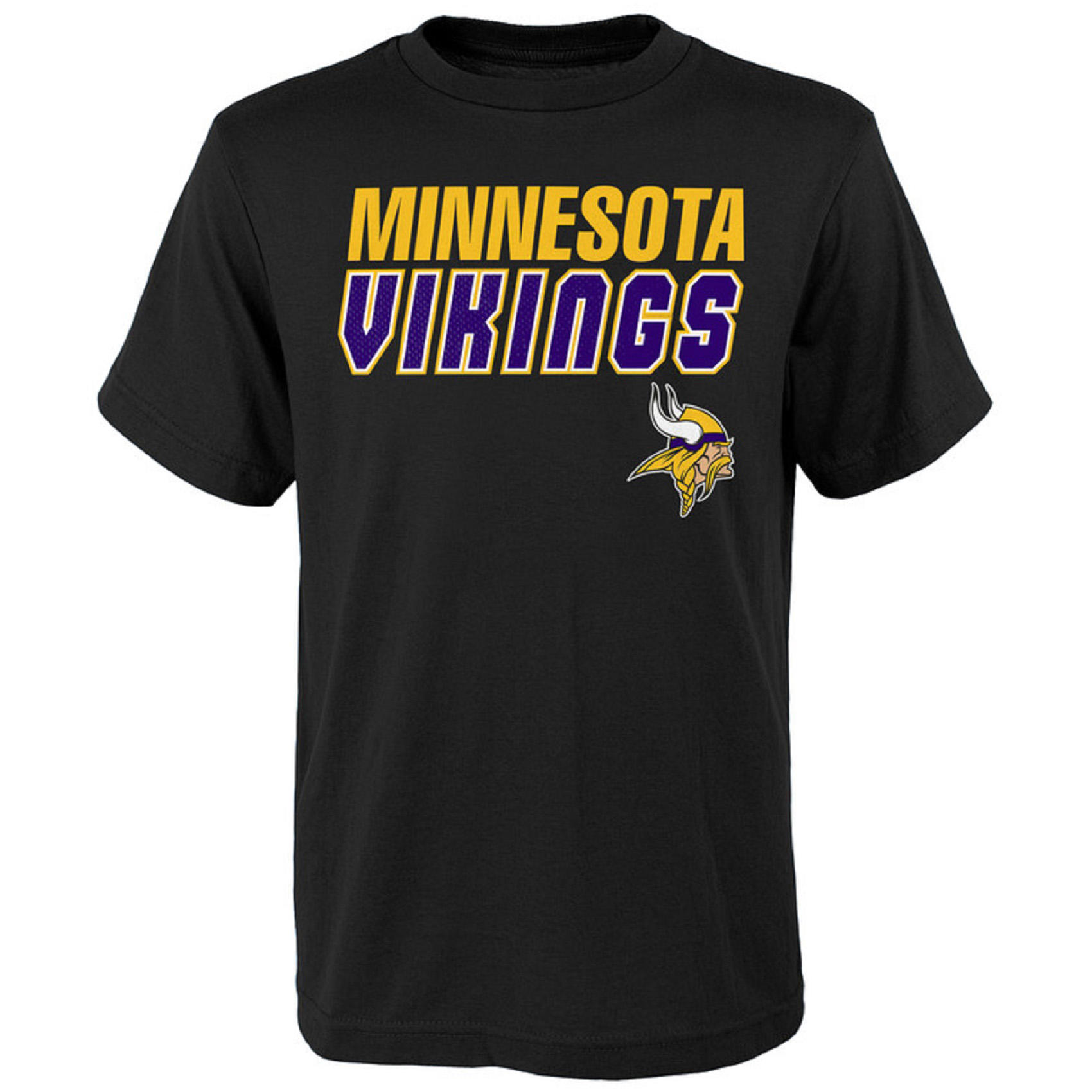 Youth Black Minnesota Vikings Outline T-Shirt