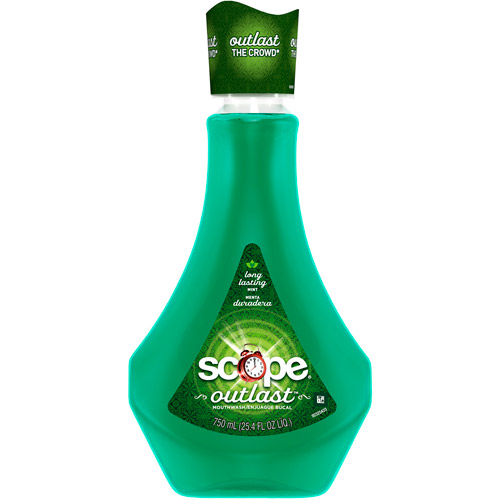 Scope Outlast Long-Lasting Mint Mouthwash, 25.4 fl oz