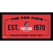 "Portland Trail Blazers Framed 10"" x 20"" Fan Cave Collage"