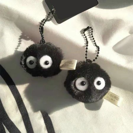 Cute Pendant Small Brim Ball Bag Small Hanging Chain Elf Couple Key Chain - image 5 of 6