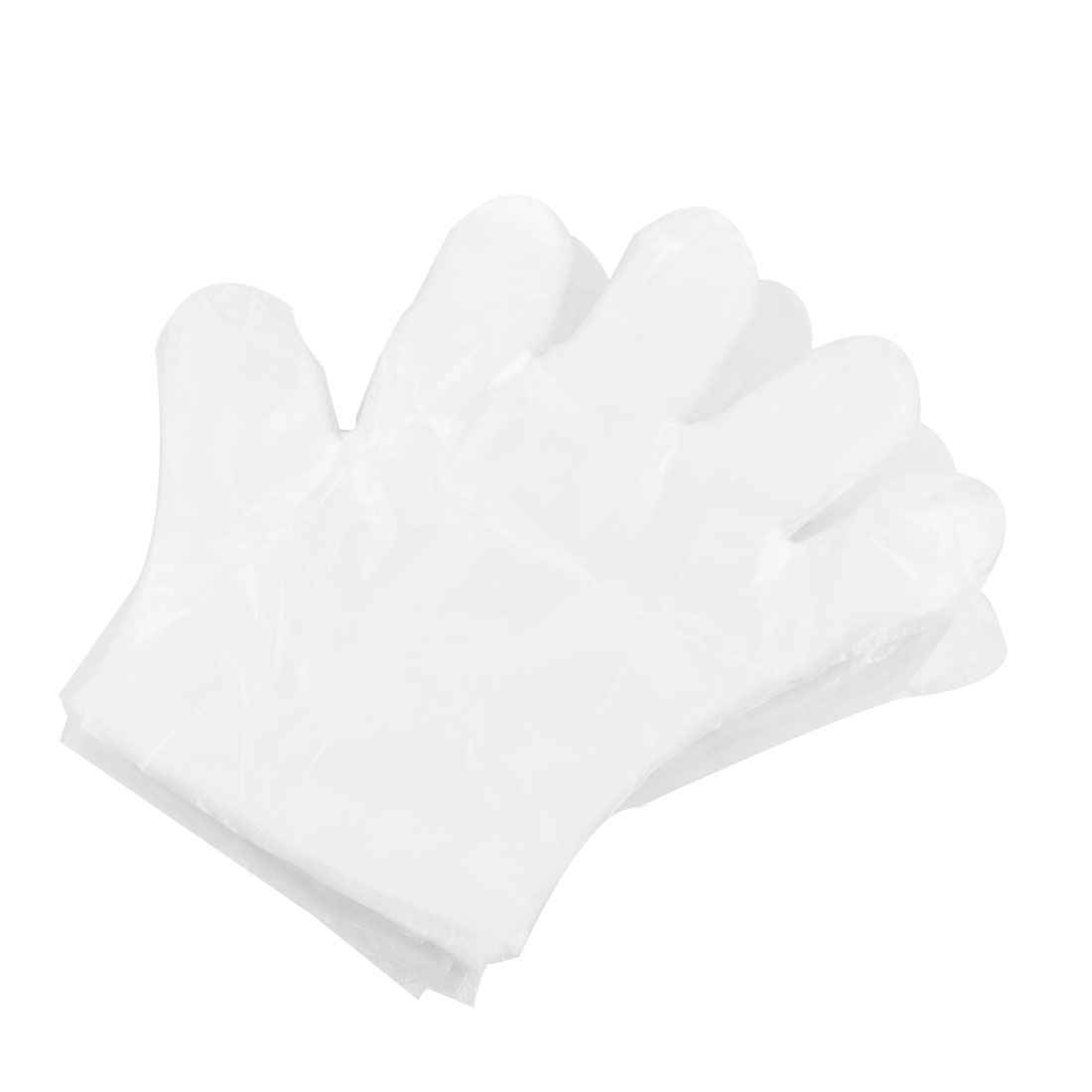 Restaurant PE Food Service Hand Protector Disposable Clean Gloves Clear 100pcs - image 1 of 1