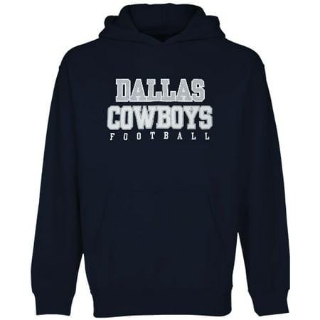 Dallas Cowboys Youth Practice Fleece Hoodie - Navy Blue