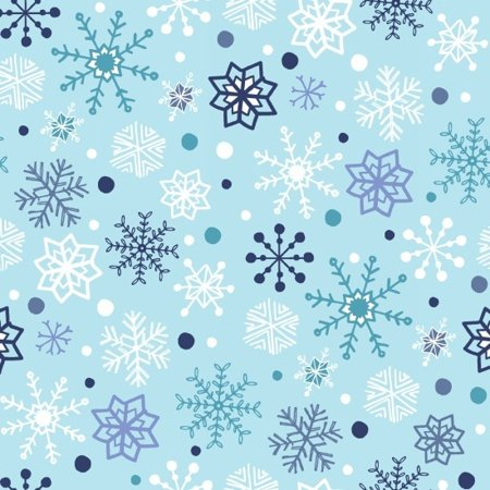 Clearance Sale~Snow Happy~Christmas Snowflakes/Light Blue Cotton Fabric by Studio E](Christmas Fabric)