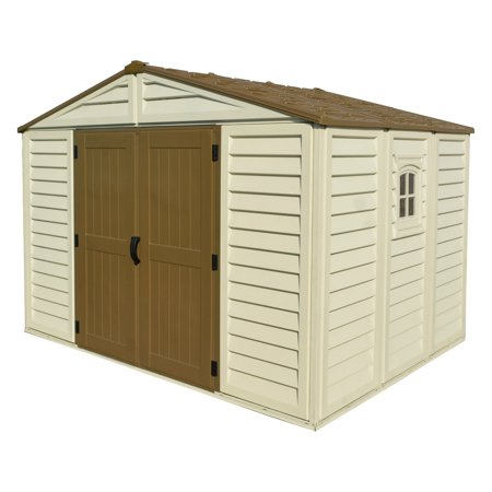 Duramax Building Products Woodbridge Plus Vinyl Shed with Foundation