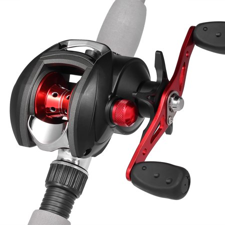 12+1 BB Ball Bearing 8.1:1 Bait Casting Fishing Reel One-way Clutch Baitcasting Reel Left/Right Hand Fishing Reel Magnetic Brake Lure Fishing Reel - image 6 de 7