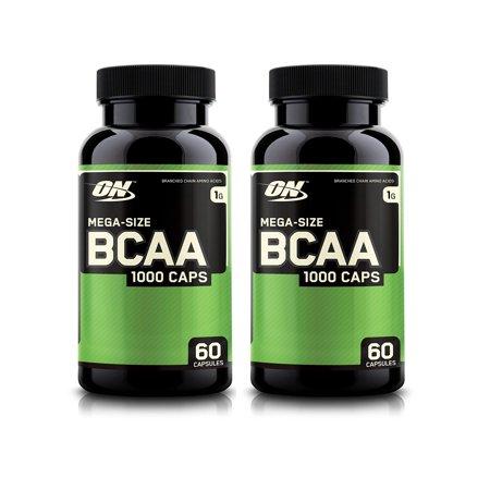 Optimum Nutrition BCAA Capsules, 1g, 60 Count (2 PACK)