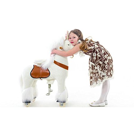 Smart Gear Pony Cycle White Unicorn Ride on Toy: 2 Sizes: World's First Simulated Riding Toy for kids Age 4-9 Years Ponycycle ride-on (Smart Cycle Dora)
