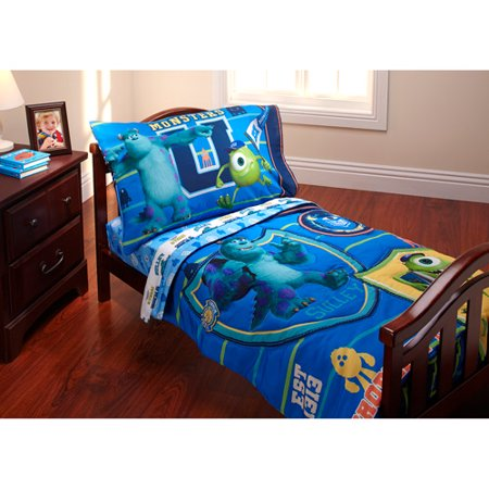 Disney Monsters Inc Property Of Mu 3 Piece Toddler Bedding Set With Bonus Matching Pillow Case