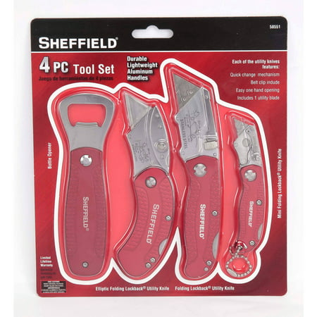 Sheffield 4-Piece Tool Set with Bottle Opener Only $8.99