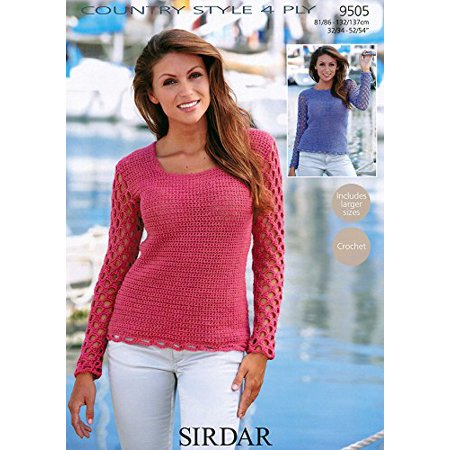 Sweaters in Sirdar Country Style 4 Ply (9505) Knitting Pattern (Sirdar Click Chunky)
