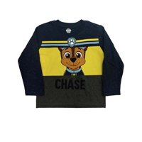 Paw Patrol Toddler Boys Navy Speckle & Yellow Chase Dog Long Sleeve T-Shirt 5T
