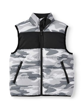 p.s.09 from aeropostale Camo Puffer Vest (Little Boys Big Boys)