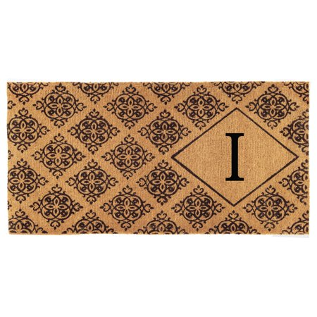 "Calloway Mills Regency Monogram Outdoor Doormat 3' x 6' x 1.5"" (Letter I)"