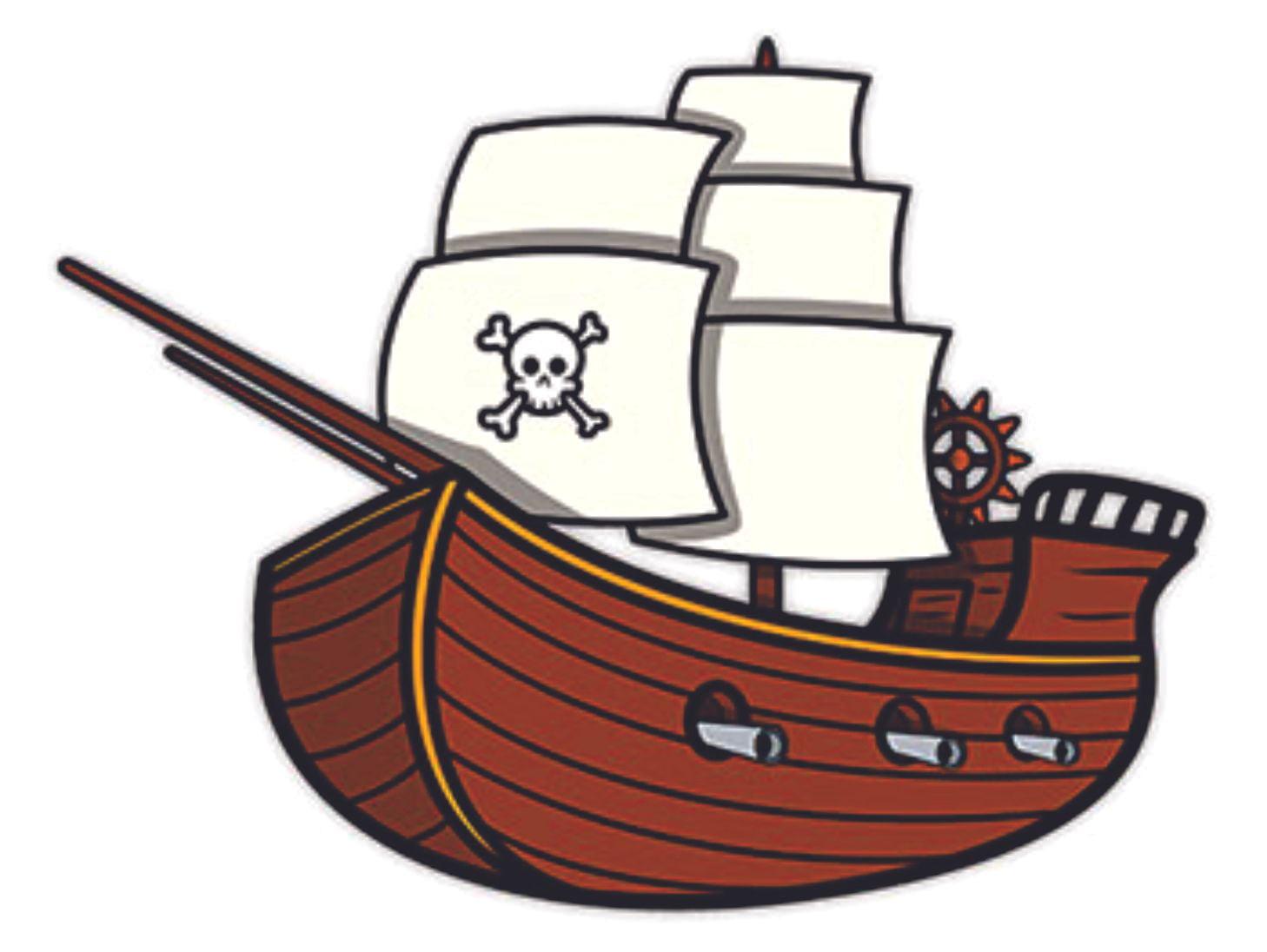 PIRATE SHIP VINYL DECAL STICKER BEDROOM//CAR//WALL//DOOR//LAPTOP//TABLET//WINDOW