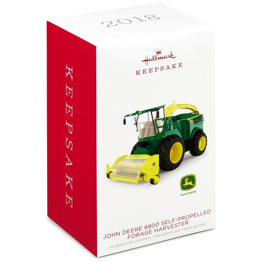 Hallmark Keepsake 2018 John Deere 8800 Self-Propelled Forage Harvester Metal Ornament