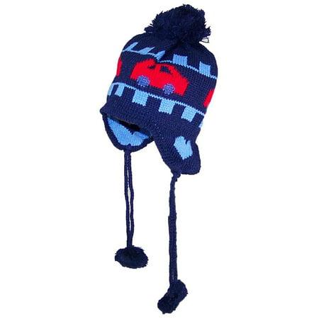 Best Winter Hats Baby/Infant Cars Design Fleece Lined Ear Flap Hat (One Size) - (Best Winter Commuter Car)