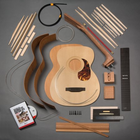 stewmac build your own om acoustic guitar kit bolt on neck torrefied top mahogany back. Black Bedroom Furniture Sets. Home Design Ideas