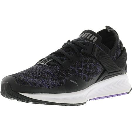 5544eab5be4cb8 Puma Women s Ignite Evoknit Lo Black   Electric Purple Quiet Shade Ankle- High Running Shoe - 7.5M