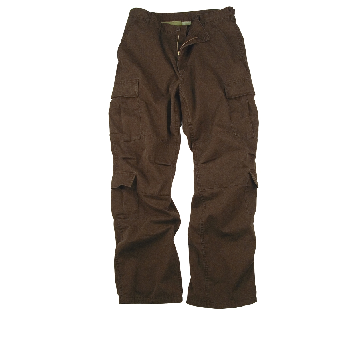Chocolate Brown Vintage Paratrooper Cargo Pants - Walmart.com